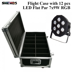 Flightcase mit 6/8/10/12/16 Stück LED Flat Par 7x9W RGB Beleuchtung Business Lights mit Professional für Party Disco DJ New Stage Light