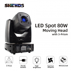 LED Spot 80W Mit Dreiprisma Gobo Moving Head Licht Party DJ Equipment Bar Licht KTV Bar Bühnenbeleuchtungseffekt